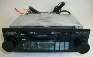VINTAGE ALPINE 7164 CAR STEREO TUNER CASSETTE TAPE DECK SHAFT STYLE