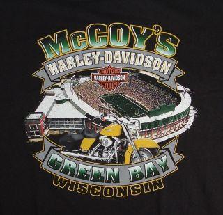 HARLEY DAVIDSON tshirt ~Size 2XL~ McCoys Green Bay WI We