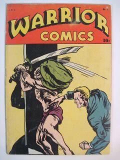 WARRIOR COMICS #1 H.C. BLACKERBY 1945 WING BRADY THE IRON MAN MARK
