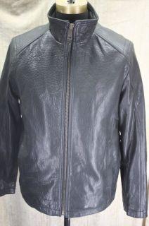 Marc New York Andrew Marc Nelson Black Leather Jacket Coat Size
