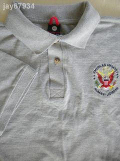 Amman Jordan American Embassy Mens Shirt Sz XL Polo Style Pique Knit