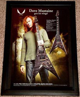 Dave Mustaine Megadeth Dean VMNT Limited Framed Promo