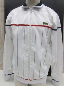 NWT~MENS~LACOSTE ~SPRING 2013~Andy Roddick Full Zip Track JACKET~With