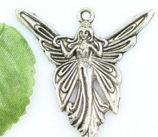 Wholesale Lot 20pcs Tibet Silver Angel Charm Pendants 39mm