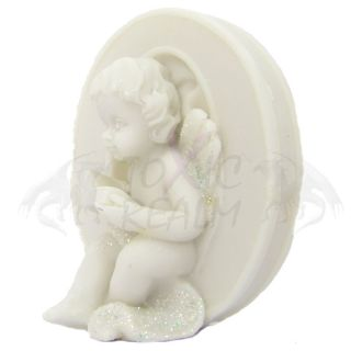 Cherub Angel Small White Wall Decor Cake Topper TR5556 Shelf Sitter