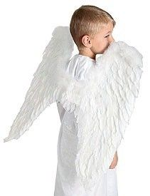 Angel Wings Haloween Costume Set White Real Feather Marabou Fairy