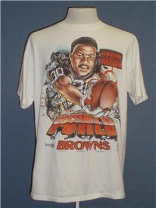 VTG 90s CLEVELAND BROWNS T Shirt LARGE ANDRE RISON 1995 Power