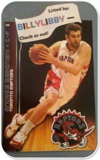 Andrea Bargnani 2011 Toronto Raptors Fathead Mini NBA 39 L K Includes