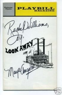 Maya Angelou Look Away Signed Autograph Opening Night Playbill