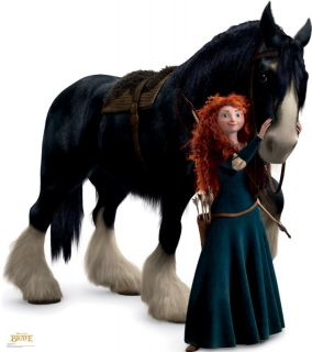 Merida and Angus Lifesize Cardboard Cutout Standee Disney Pixar Brave