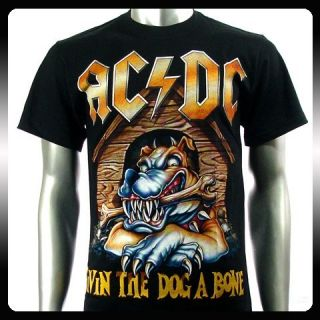 AC DC Angus Young Heavy Metal Rock Music T Shirt Sz XL Men