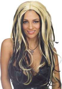 Wig Shake It Black Blonde Two Tone Ani DiFranco Style