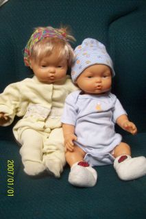 Baby Doll Anatomically Correct Boy Vinyl Stuffed Body Sister Doll Both