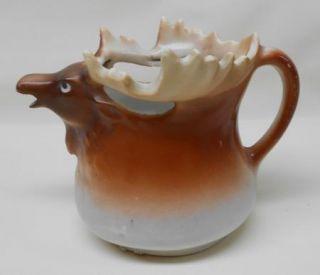Vintage Austria Ceramic Moose Creamer Milk Pitcher Animal