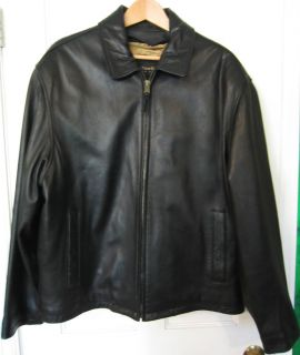 Andrew MARC NEW YORK Black LEATHER JACKET COAT Removable Quilted Liner
