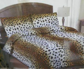 Set Leopard Print Comforter Sheets