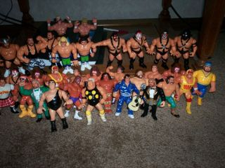 Hasbro Wrestling Action Figure Lot Dusty Rhodes Andre The Giant