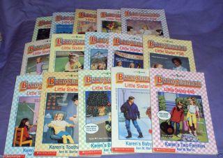 15 Books BABY SITTERS LITTLE SISTER Ann M Martin Series Book Lot Karen