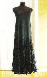 Nili Richards 2 Piece Black Lace Dress Womens 16
