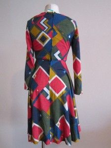 Psychedelic Retro Clothes Circuit Anne Fogarty Adri Dress M