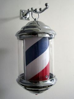 New Ascot Products Mini Barber Pole Rotating Cylinder Bright Light