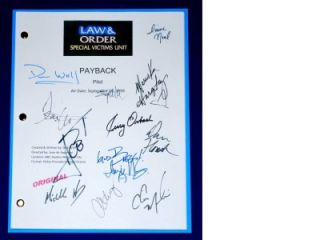 LAW & AND ORDER SVU PAYBACK SIGNED SCRIPT RPT CHRIS MELONI, MARISKA