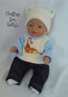 Baby Boy Dolls Clothes Outfit Fit Annabell 14 19 TI1