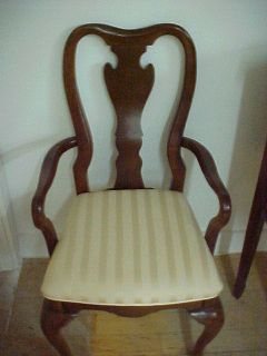 Ethan Allen Queen Anne Cherry Dining Captains Chair