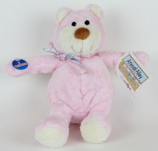 New Animal Alley Toys R US Plush Pink Teddy Bear Rattle Stuffed Lovey