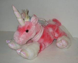 Animal Alley 14 Soft Floppy Pink Unicorn Plush Toy