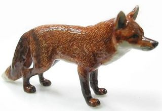 NEW Northern Rose RED FOX Figurine PORCELAIN Statue WILD ANIMAL Figure