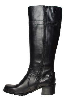 Anne Klein Womens Boots Edith Black Leather Sz 10 5 M