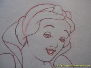 Disney Studio SNOW WHITE Smile Vintage / Original Animation Drawing