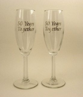 50th Anniversary Champagne Glasses 50th Wedding Anniversary Party Gift