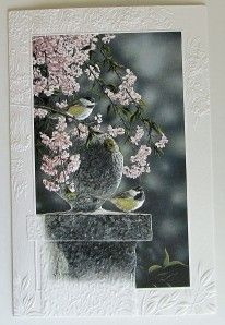 Anniversary or Wedding Greeting Card Chickadee Couple Spring Cascade