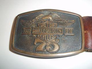 75th Anniversary Harley Davidson Belt and Buckle