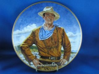 The Duke John Wayne Collector Plate The Franklin Mint