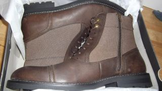 New Mens Shoes Brown Leather Marc Anthony Ankle Boot Lace Up Diego
