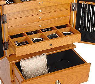 Gold Silver Safekeeper Anti Tarnish Jewelry Armoire by Lori Greiner