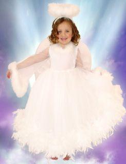 Princess Paradise Christmas Angel Dress Costume Wings Halo 3 4 5 6 7 8