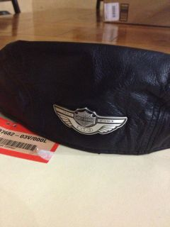 100th Anniversary Harley Davidson Medallion Leather Ivy Cap Hat