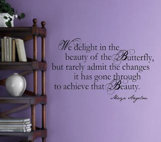 Maya Angelou Butterfly Quote Vinyl Wall Decal Lettering