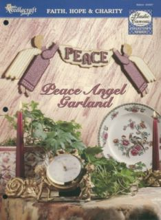Peace Angel Garland 7 Mesh TNS Plastic Canvas Pattern