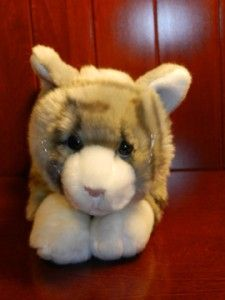 Animal Alley Grey Gray White Tabby Kitty Cat Plush Stuffed Toys R US 9
