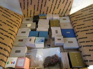 Vintage Avon Jewelry Boxes Lot Earrings Necklaces