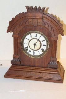 Antique Ansonia Kitchen Shelf Mantel Clock
