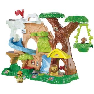 NEW Fisher Price Little People Animal Sounds Zoo Talkers Playset