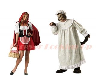 Couples Red Riding Hood Big Bad Wolf Halloween costumes SM 2X