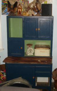 Antique Vintage Hoosier Cabinet Cupboard Stepback Folk Art Sellers