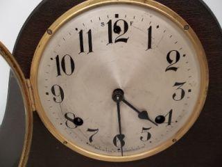 antique waterbury mantel clock key wind chime bim bam clock very clean